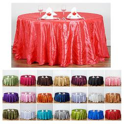 """Pintuck Tablecloths 120"""" Round For Wedding Party Banquet Eve"""