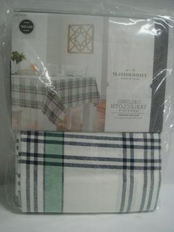Plaid Oblong Tablecloth Green 60 in. x 104 in. - Threshold,