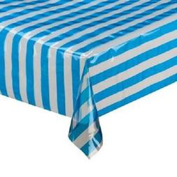 Plastic Disposable Tablecloth Stripe Pattern Table Cover Wed