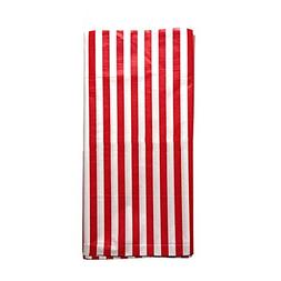 JINSEY Pack of 3 Plastic Red White Stripe Print Tablecloths