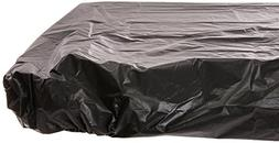 30 x 96 Plastic Stay Put Tablecover Black 12 Ct