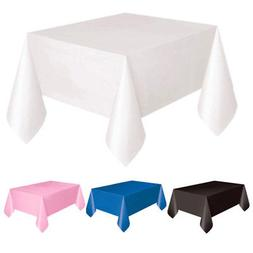 Plastic Table Cover Cloth Wipe Clean Party Tablecloth Square