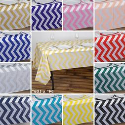 PLASTIC TABLE COVERS 54x108 in Chevron Disposable Tablecloth