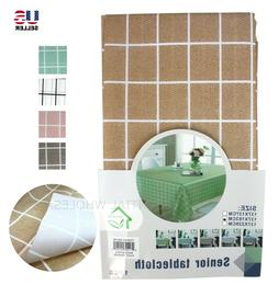 Plastic Waterproof Checked Tablecloth Cover Table Cloth Dura