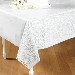 Plastic Wedding Lace Printed Tablecloth   Table Cover.