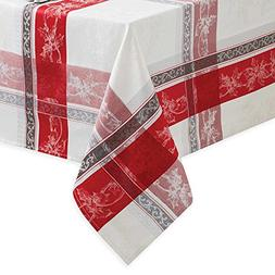 Benson Mills Poinsettia Plaid Tablecloth 60 in. x 102 in. Ob