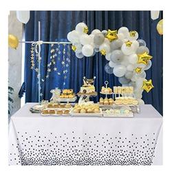 Polka Dot Rectangle Tablecloth - 60 x 60 Inch - Water & Stai