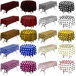 Polka Dot Rectangular and Round Tablecloth by Florida Tablec
