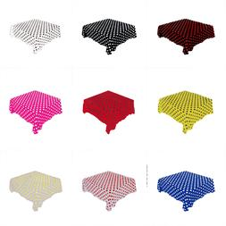 Polka Dot Square Tablecloth by Florida Tablecloth Factory