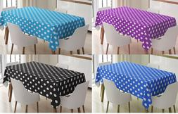 Polka Dot Tablecovers Party Events Disposable Plastic Tablec