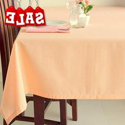 Poly Cotton Linen Square Tablecloth – French Rectangular &