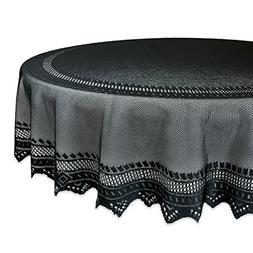 DII 100% Polyester, Machine Washable, Crochet/Lace Tableclot