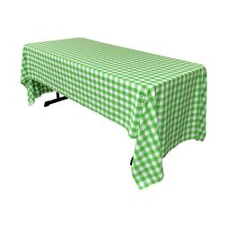 LA Linen Polyester Checkered 60 by 126-Inch Rectangular Tabl
