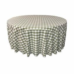 LA Linen Polyester Gingham Checkered 108-Inch Round Tableclo