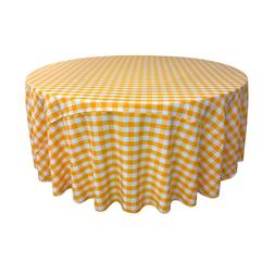 LA Linen Polyester Gingham Checkered 120-Inch Round Tableclo