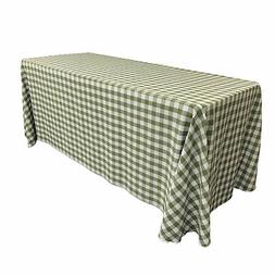 LA Linen Polyester Gingham Checkered 90 by 156-Inch Rectangu