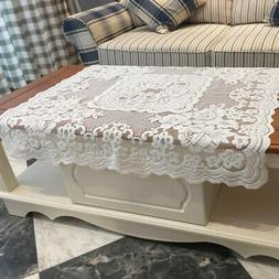 Polyester Machine Washable Tablecloth Floral Lace Square Tab