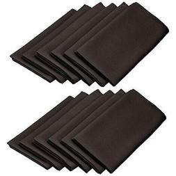 LinenTablecloth 20-Inch Polyester Napkins  Black