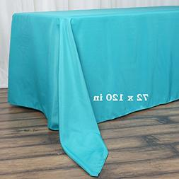 BalsaCircle 72x120-Inch Turquoise Rectangle Polyester Tablec