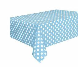 Powder Blue and White Polka Dot | Party Tablecover | Tablecl
