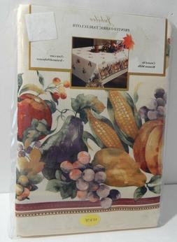 Benson Mills Printed Fabric Tablecloth 52 x 70 Oblong Jubile