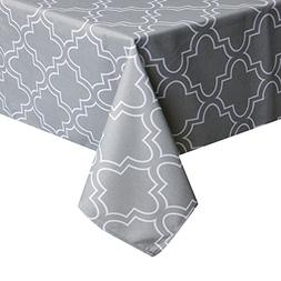 UFRIDAY Tablecloth 52 x 52-Inch for Square Tables, Light Gre