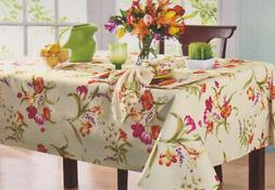 Printemps Rectangle Tablecloth Spring Tulips Floral Print 60