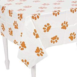 "Fun Express Puppy Dog Paw Print Plastic Table Cover - 54"" x"