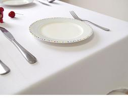 """Pure White 52""""x52"""" polyester Tablecloth for Hotel Restaurant"""