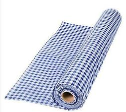 """Purple Gingham Tablecloth Roll Comes Sealed! 100' X 40"""" Cove"""