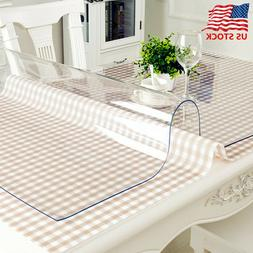 PVC Clear Transparent Waterproof Tablecloth Washable Dining-