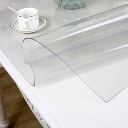 IHAD PVC Waterproof Tablecloth Transparent Tablecloth with p