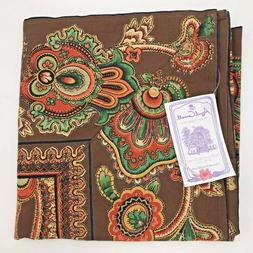 April Cornell Queens Court Chocolate Brown Square Topper Tab