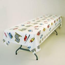 """Race Day Plastic Tablecloth 54"""" x 108"""""""