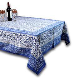 "Homestead Rajasthan Block Print Tablecloth-60 x 90"" Rectangl"