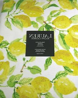 Ralph Lauren Tablecloth Lemons /Multi Color 70 Round 100% Co