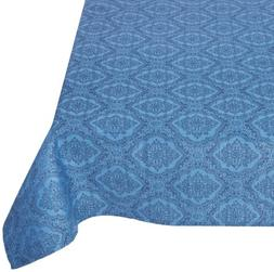 Mahogany Rectangle Jacquard Tablecloth, 60 by 90-Inch, Medal