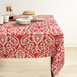 Gravan Rectangle Polyester Tablecloth Vintage Printed and Sp