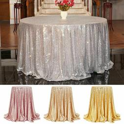 Rectangle/Round Sparkly Sequin Table Cover Glitter Tableclot