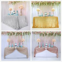 Rectangle Sequin Glitter Tablecloth Sparkly Table Cloth Cove