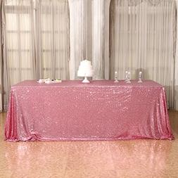 """3E Home 60x102"""" Rectangle Sequin TableCloth for Party Cake D"""