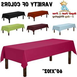 Rectangle Table Cover Cloth Home Party Decoration Solid Plai