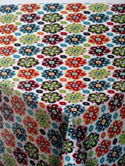 rectangle  tablecloth floral abstract fabric festive  52 x 7