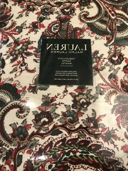 Ralph Lauren Rectangle Tablecloth Holiday Patmosan Paisley R