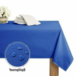 RYB HOME Rectangle Tablecloth Spillproof - Table Cloth for K
