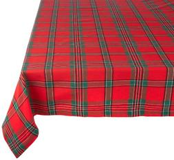 """Holiday Plaid Square Tablecloth, 100% Cotton with 1/2"""" Hem f"""