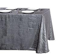 LinenTablecloth Rectangular Crinkle Taffeta Tablecloth, 90 x