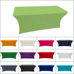 Rectangular Fitted Stretch Tablecloth Wedding Banquet Party