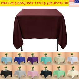 US Square Tablecloth in Washable Poly for Party Holiday Dinn