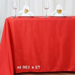 LinenTablecloth 70 x 120-Inch Rectangular Polyester Tableclo